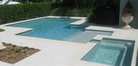 contemporary pools contemporary pool with sunken spa ft lauderdale fl