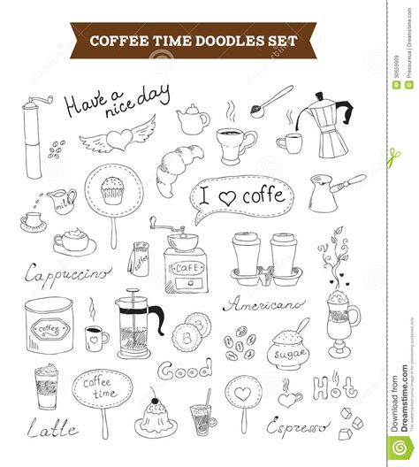 free vector doodle elements coffee doodles vector elements royalty free stock images