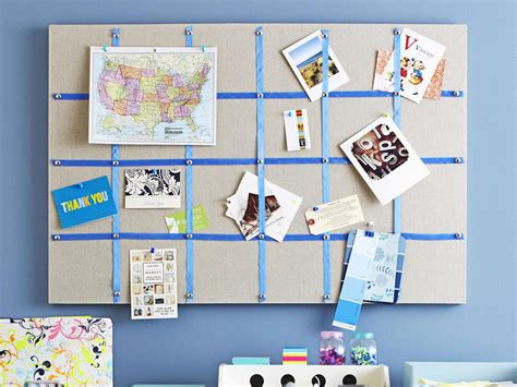 craft ideas hgtv hang a memo board to organize paper clutter tack up