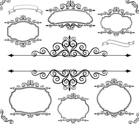 border frame design vector free simple black floral borders and frames vector 02