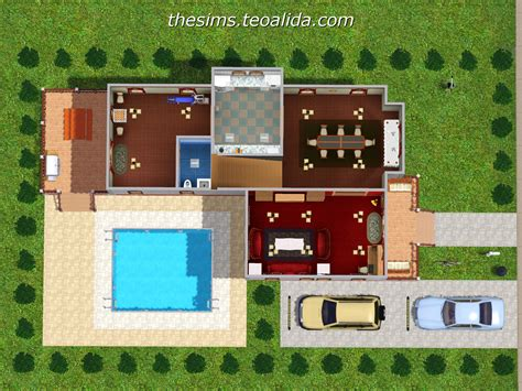 3 l floor l l shaped house the sims fan page