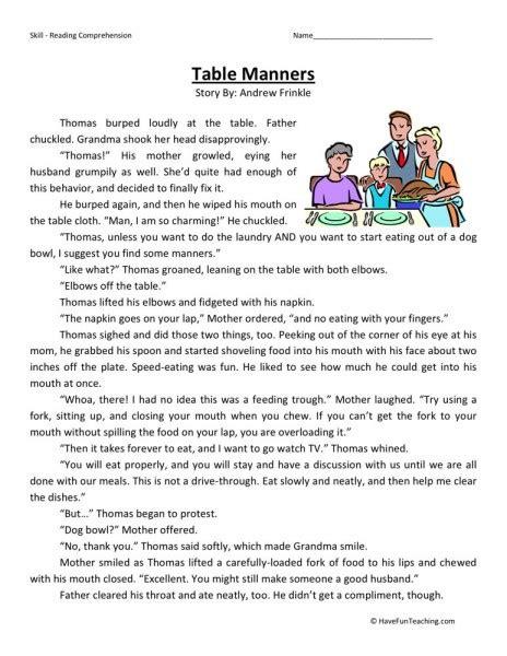 printable etiquette quiz etiquette worksheets lesupercoin printables worksheets