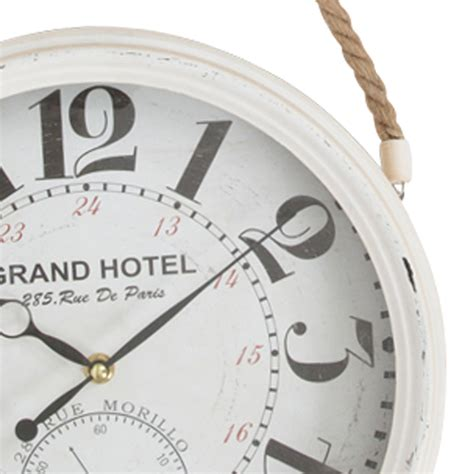 Hanging Wall Clock White 1 buy grand hotel white rope hanging wall clock