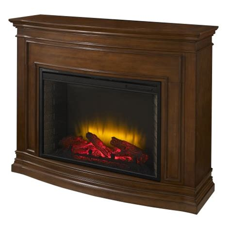 pleasant hearth 28 inch trent mahogany electric fireplace