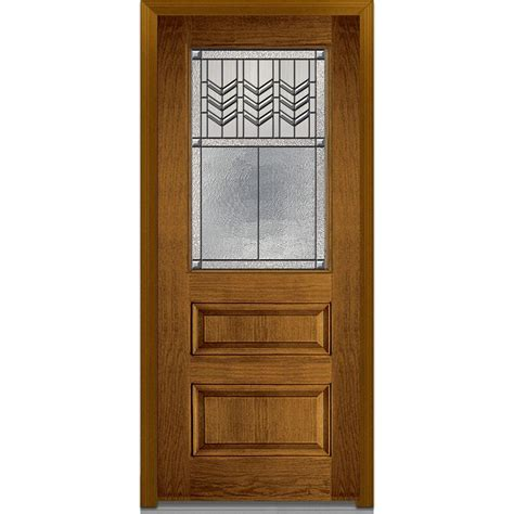 Milliken Doors by Mmi Door 36 In X 80 In Prairie Bevel Left 1 2 Lite
