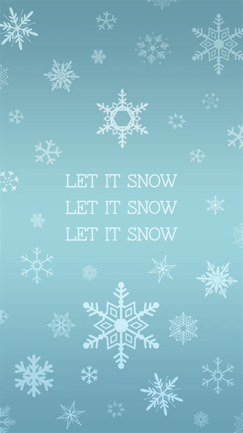 iphone themes christmas let it snow snowflake iphone wallpaper plus more free