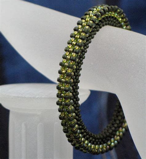 beaded bangle bracelet by unique you craftsy