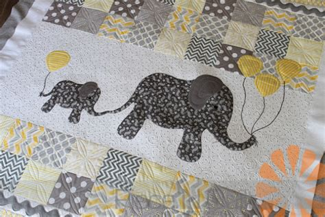 Elephant Quilt Patterns by N Quilt Baby Elephant Quilt Custom Machine