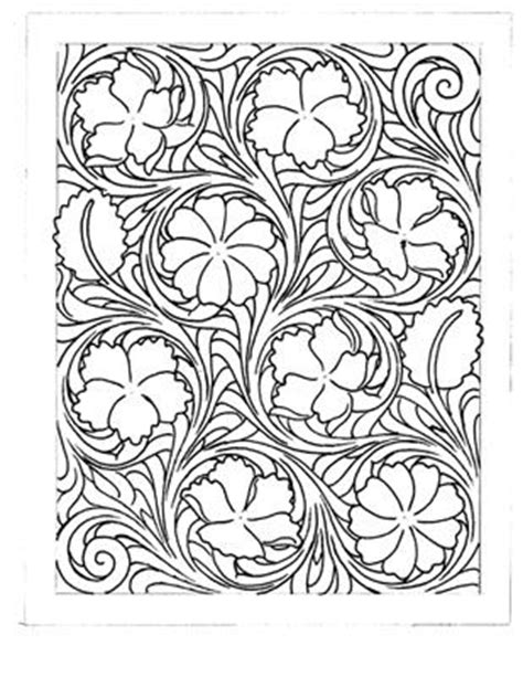 drawing pattern on leather leather carving carving and leather tooling patterns on