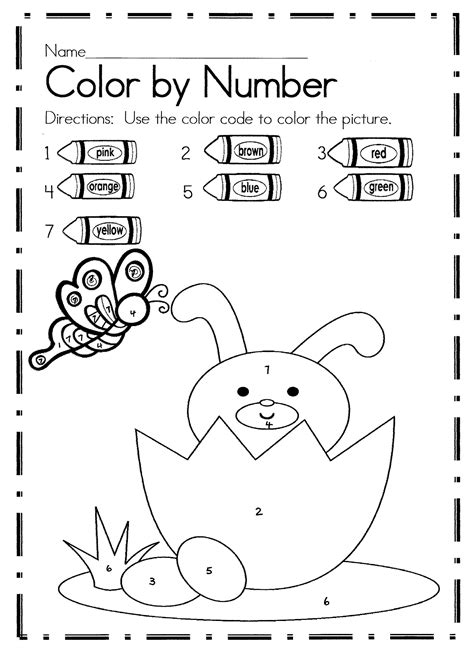 what are easter colors easter color by number activities coloring activities