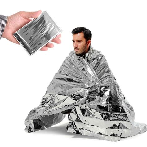 Emergency Blanket Survival Brw emergency space thermal mylar blanket liveactionsafety