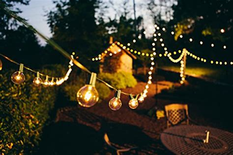 g50 led string lights 100 foot g50 patio globe string lights with 2 inch clear
