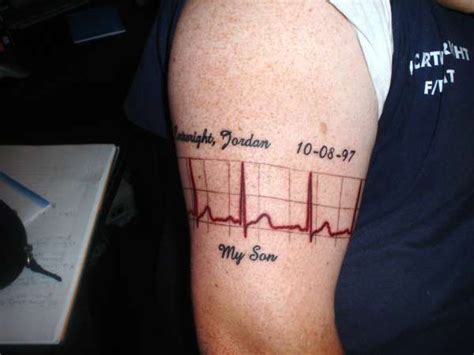 ekg tattoo meaning this just the rhythm though not the graph my
