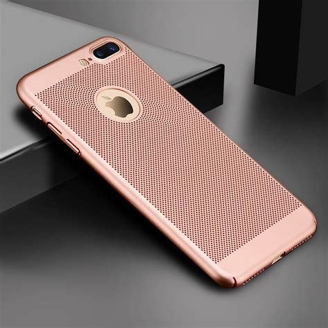 gertong ultra slim phone for iphone 6 6s 7 8 plus hollow heat dissipation cases pc for