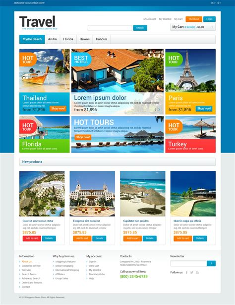 tourism templates free travel agency store magento theme 47319