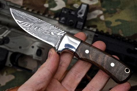 Handmade Usa - knife store cfk usa custom handmade damascus walnut wood