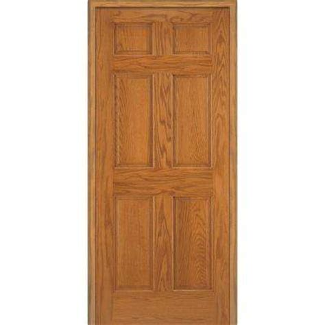 5 Panel Oak Interior Doors Wood 6 Panel Prehung Doors Interior Closet Doors The Home Depot