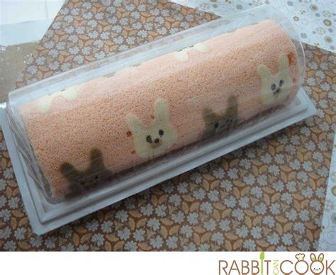rabbits roll cake japanese decorative roll cake