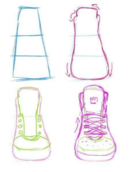 front view grch pinterest sneakers front view guide by yummytomatoes drawing