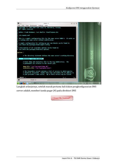 Cara Konfigurasi Dns Server Di Opensuse | 2012 20 konfigurasi dns menggunakan opensuse