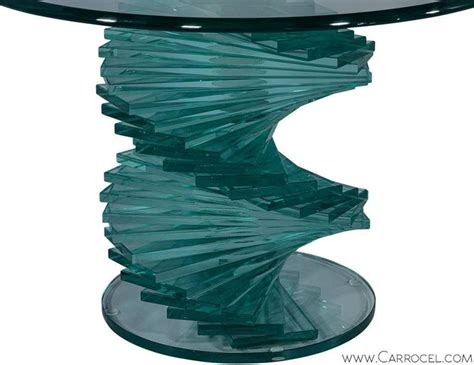 Stacked Glass L by Stacked Glass Sculptural Side Table At 1stdibs