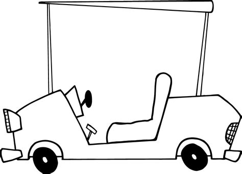 cattle car coloring page worksheet of cartoon character golf car for kids