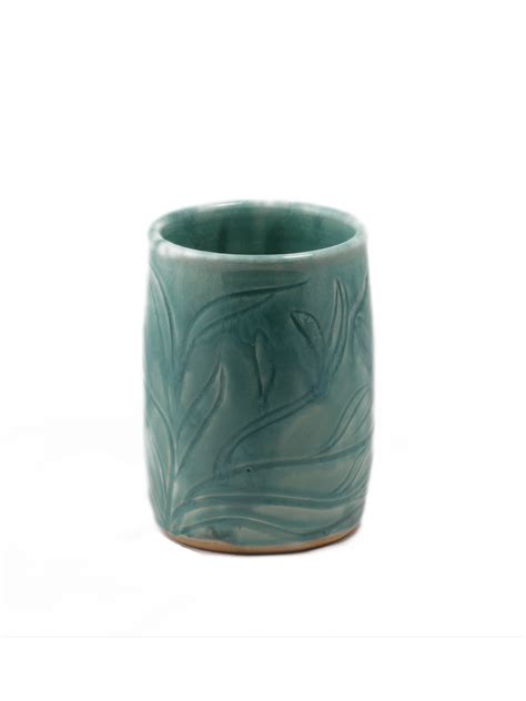 Tabletop Vases by Carved Caribbean Vase Moon And Peepers Pottery