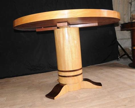art deco inlay dining centre table furniture