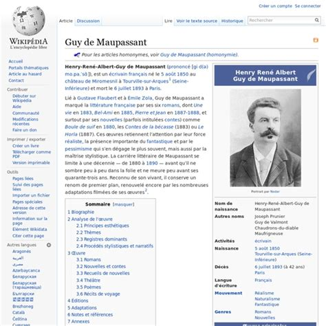 la biography de guy de maupassant guy de maupassant pearltrees