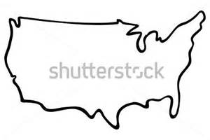 us map easy to draw mapa de estados unidos do vetor contorno