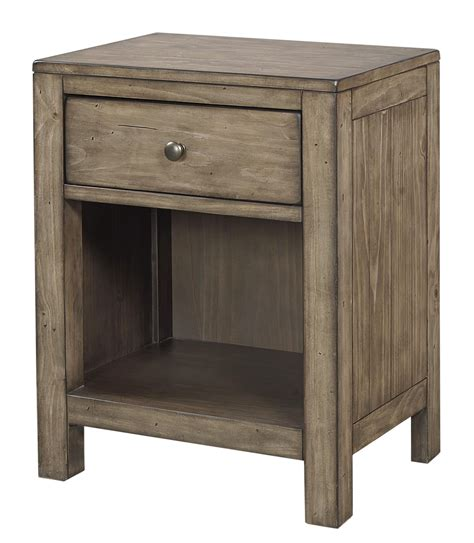 1 drawer nightstand plans aspenhome tildon i56 451n one drawer nightstand with open