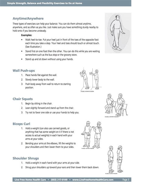 printable home exercise program for elderly 10 best images about balance exercises on pinterest