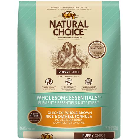 nutro wholesome essentials puppy nutro choice wholesome essentials chicken brown rice oatmeal puppy 15 lb