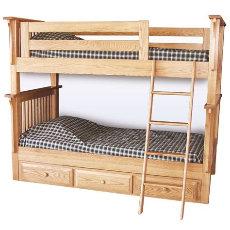 Mission Twin Over Twin Bunk Bed Solid Wood Bunk Bed Country Bunk Beds