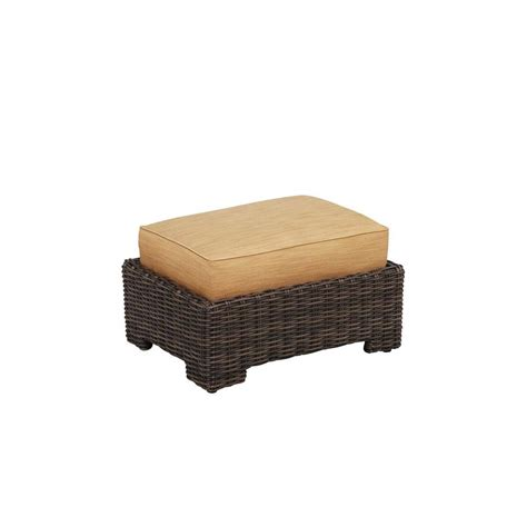 brown wicker ottoman hton bay spring haven brown all weather wicker patio