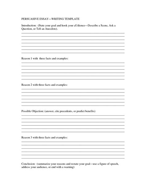 Writing An Essay Template best photos of printable template for essay writing