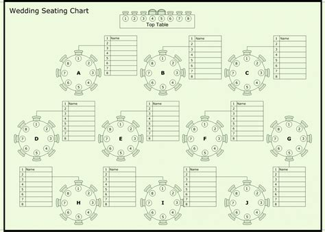 Free Wedding Reception Seating Chart Template Reception Seating Chart Template Excel
