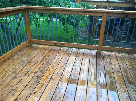 Cabot Decking Stain by Cabot Deck Stain In Wood Toned Cedar After A
