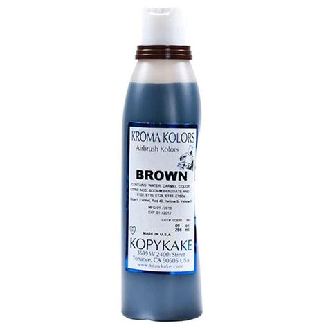 food coloring brown by kopykake from usa buy baking and
