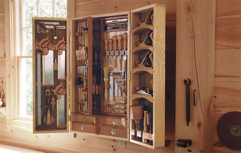 Arts And Crafts House Plans tool chest with surprise storage finewoodworking