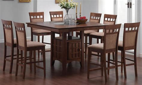 walnut dining room sets mix match walnut counter height dining room set from