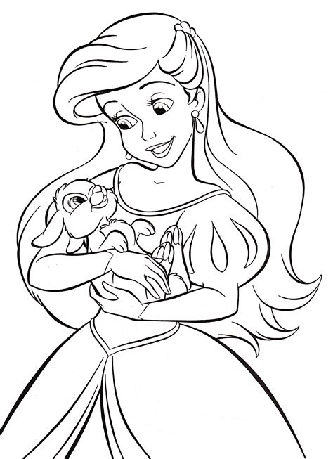 princess ariel coloring pages long hairstyles