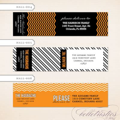 printable halloween address labels belletristics stationery design and inspiration for the
