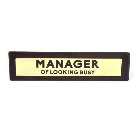 Office Desk Signs Manager Of Looking Busy Wooden Desk Sign Pink Cat Shop