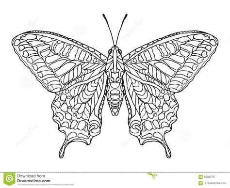 zentangle stylized butterfly stock vector image 60395797