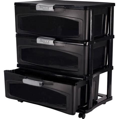 Sterilite 3 Drawer Cart Black by Sterilite 3 Drawer Wide Cart Black Walmart