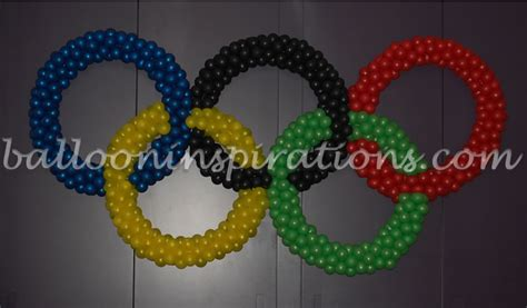 Olympic Decorations by Olympic Rings Balloon Decorations
