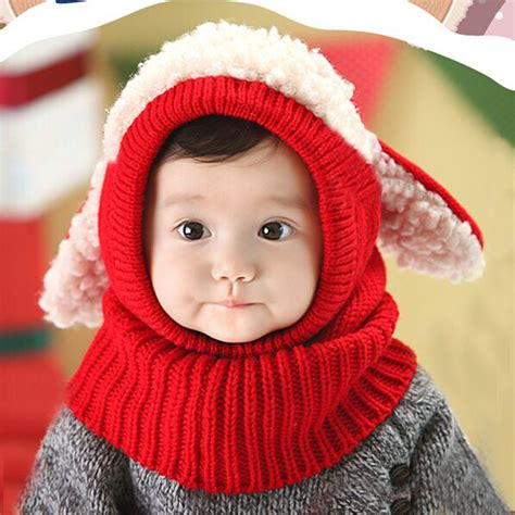 unique new winter baby boys warm woolen coif