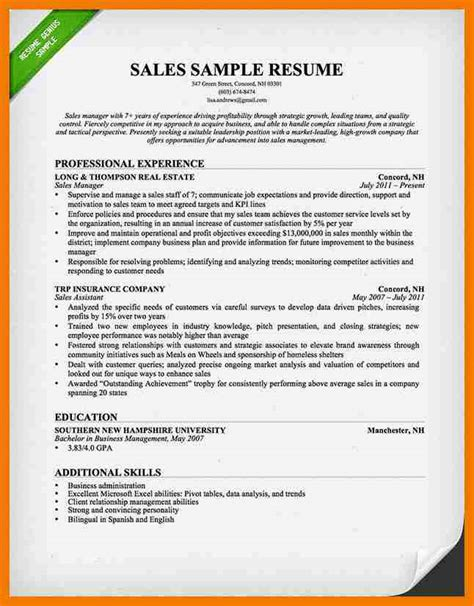 Sales Manager Sle Resume by 8 Best Sales Resumes Mailroom Clerk