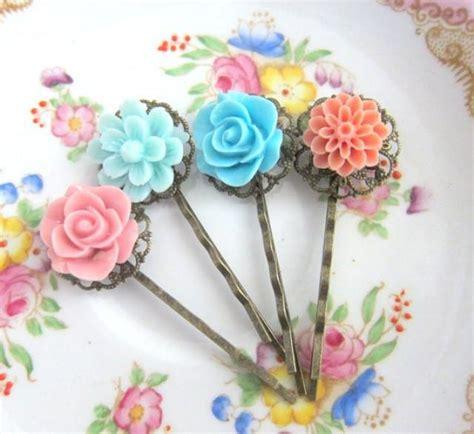 Vintage Wedding Hair Pins by Flower Hair Pins Vintage Style Wedding Floral Bobby Pin